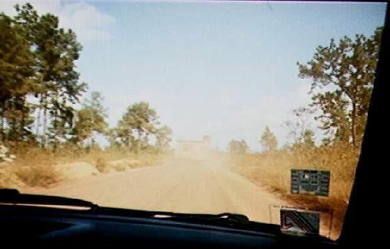 Manatee Highway behind a trailer