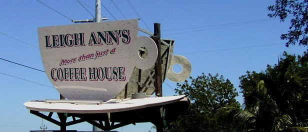 Leigh Ann's Coffee House sign