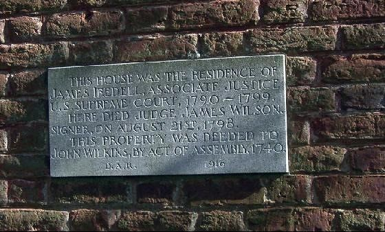 Plaque on Iredell house