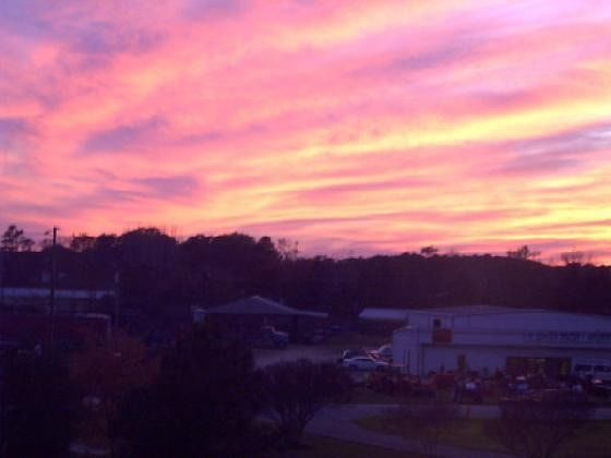 Sunset from the Hampton Inn
