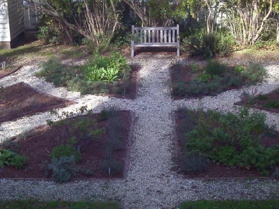 Herb Garden from upstairs  window