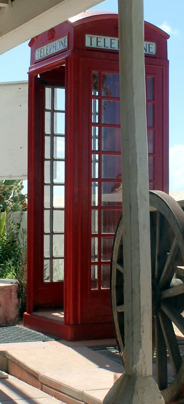 Old style phone booth outside the National Museum - Grand Turk