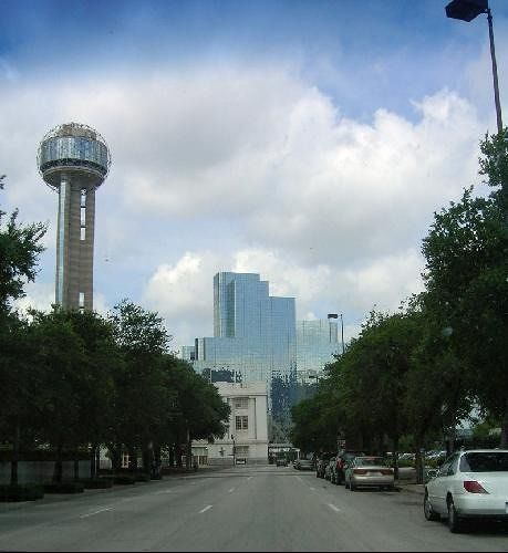 Reunion Tower from street level