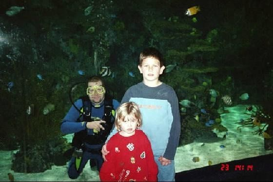 Scuba Diver poses with my grandkids