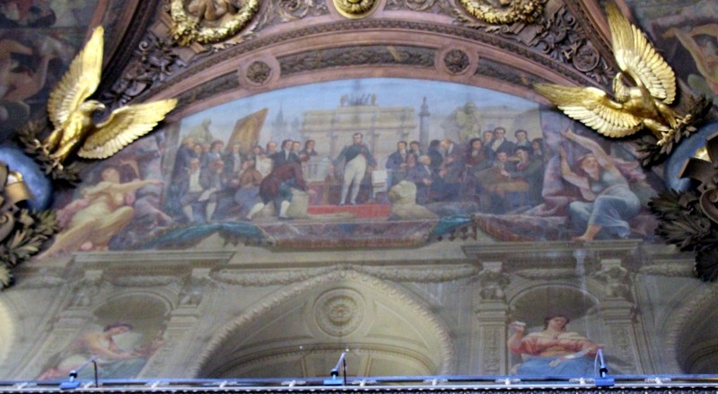 One of four paintings about the history of France - this one is Napoleon
