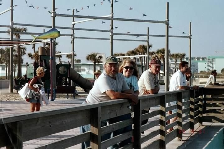 Our friends on the boardwalk of Daytona