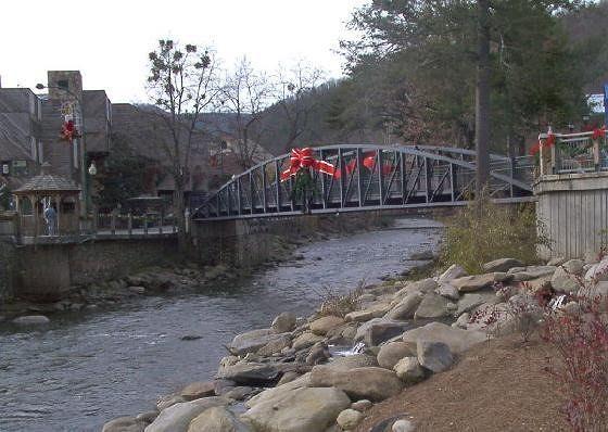 Gatlinburg Bridge with Xmas decoration