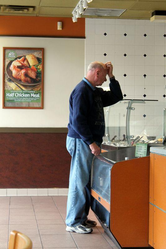 Bob at the counter