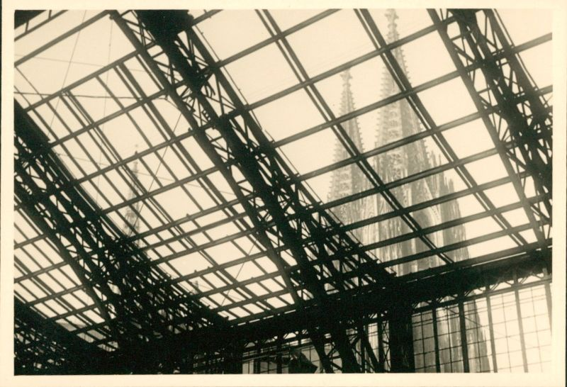 cathedral through the RR station roof in 1950