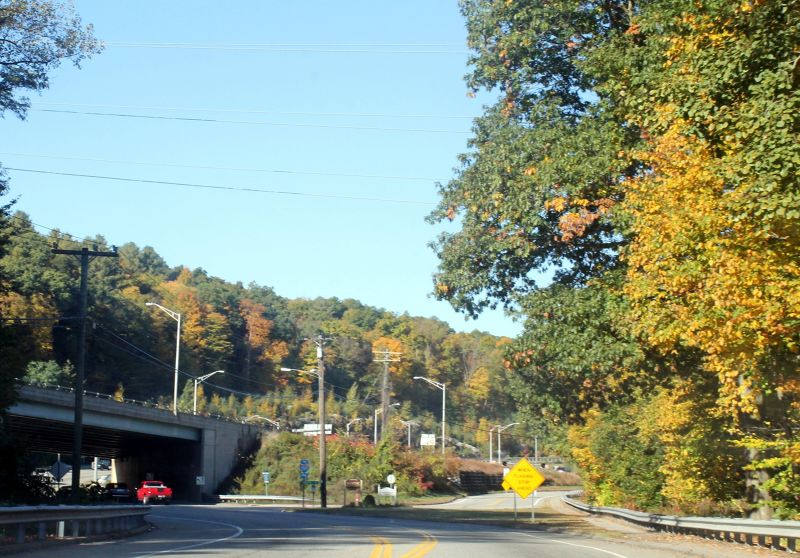 Interstate and Ct Route 2 near the hotel