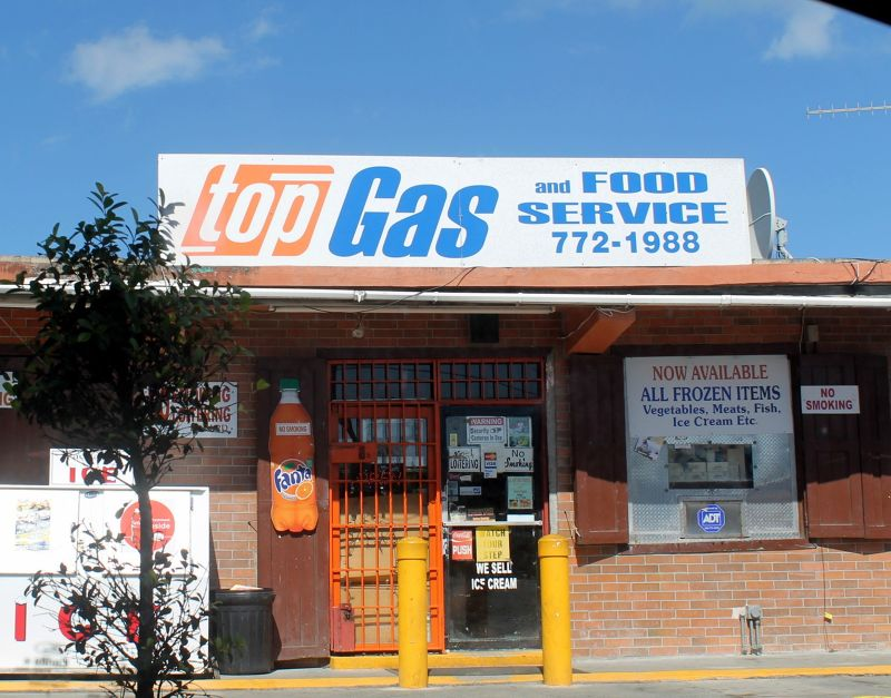 Top Gas near the airport