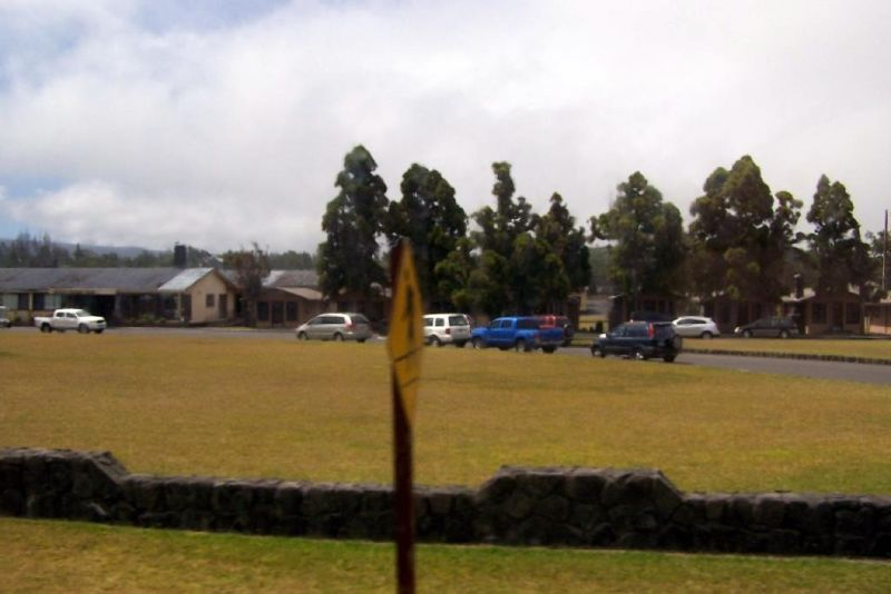 Blurry photo of the military camp from the bus