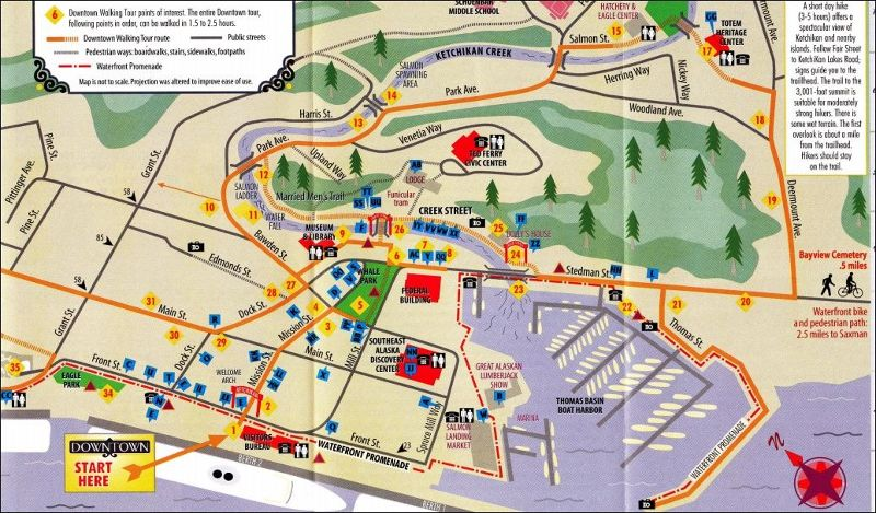 Walking Tour map