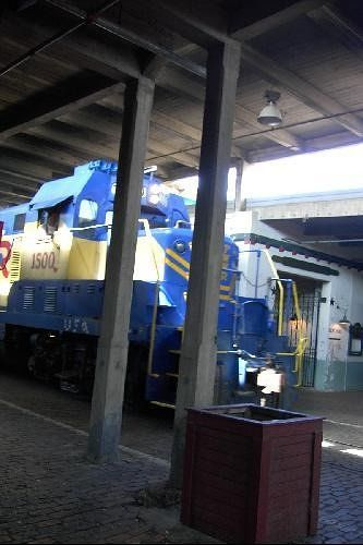 Newer engine in the station