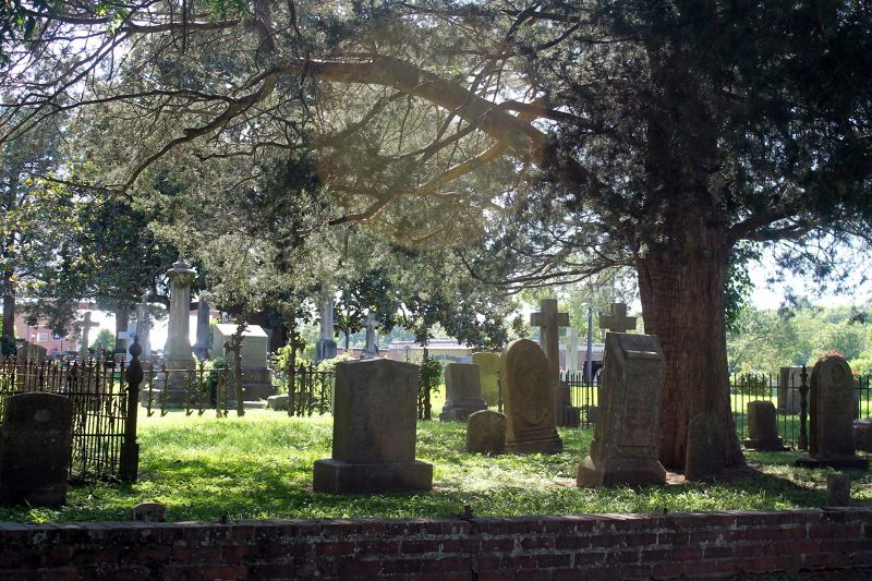 Cemetery from the street