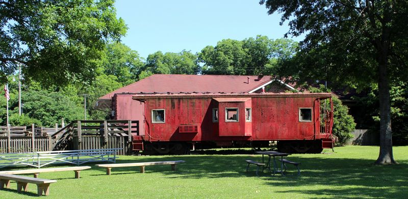 Old Railroad car outside the museum