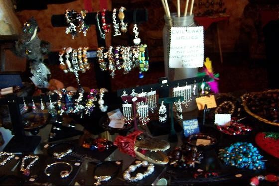Display of items for sale in the Voodoo Museum