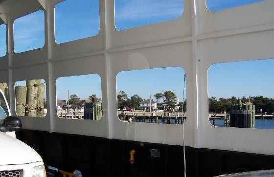 Looking out of the ferry 'windows' after loading