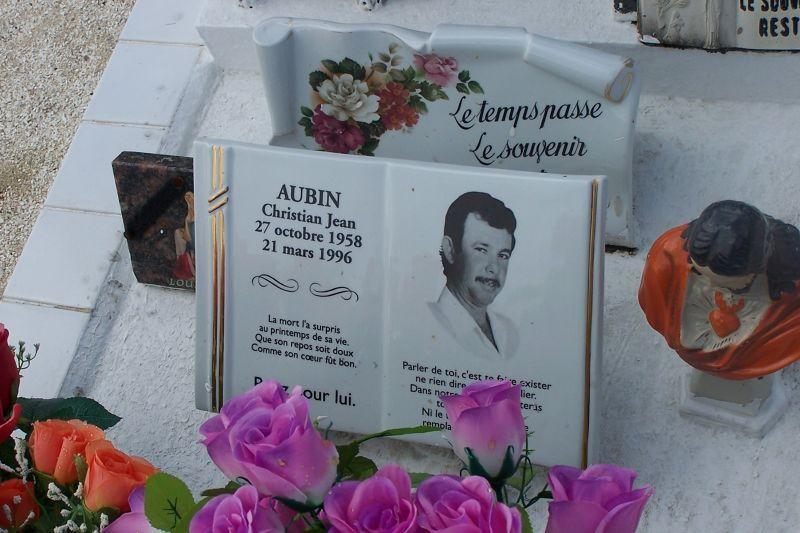 Christian Jean Aubin's Grave