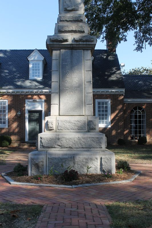 West side of the Confederate Monument with the Debtor's Prison behind it