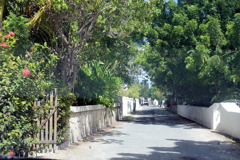 Shady street - Grand Turk