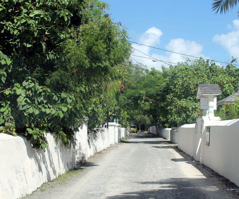 Quiet back street - Grand Turk