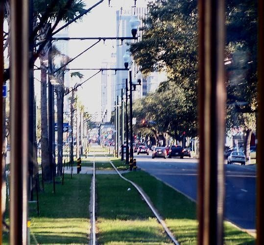 Streetcar Rails in the Neutral Ground