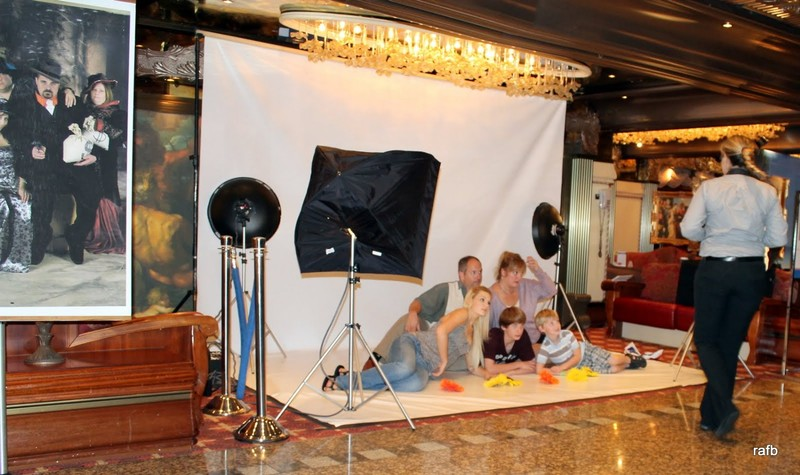 Photography set up for a family