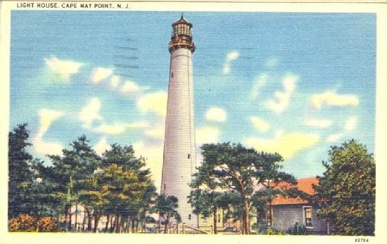 Cape May light mailed in 1947