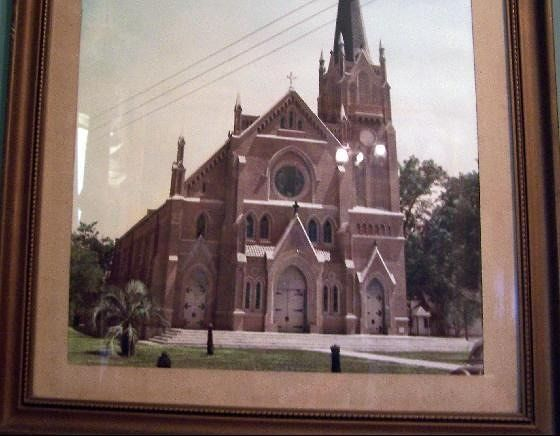 Picture of the church in the Jeanerette museum