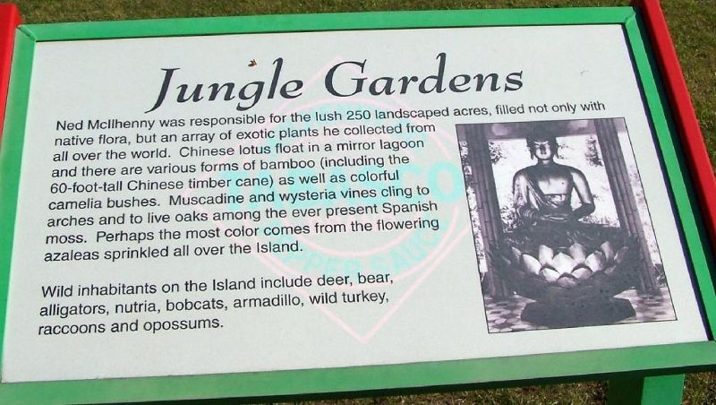 Jungle Gardens information sign