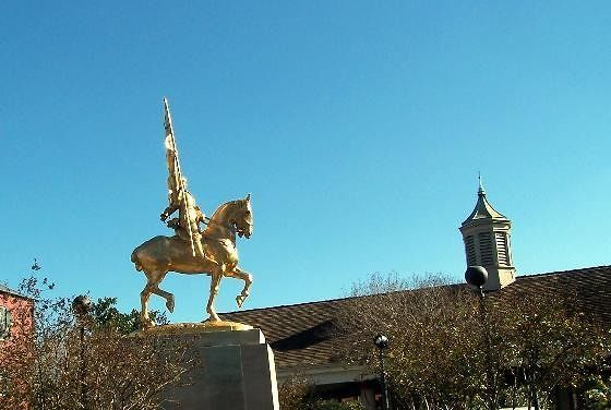 Joan of Arc statue on Decatur St.