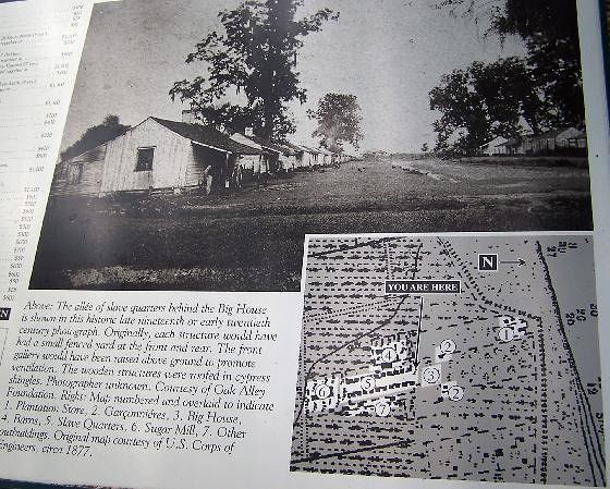 Sign about the slave quarters