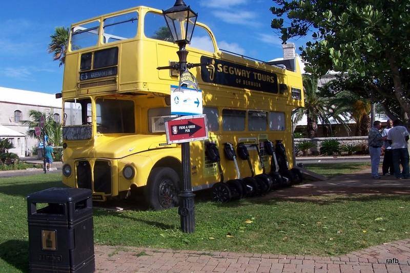 Yellow segway bus