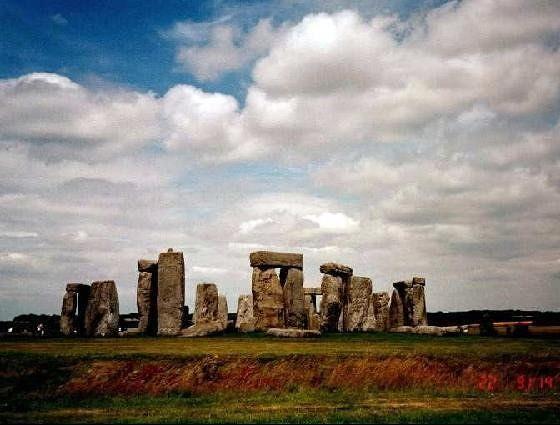 Stonehenge showing 'ditch' around it
