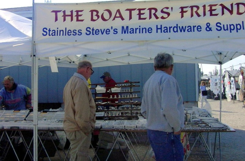 Bob browsing at the Boater's friend