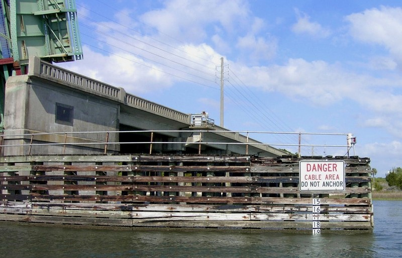 Tide board and Sign on the bridge fenders