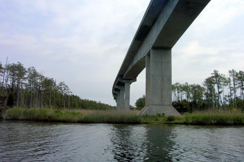 Fixed bridge in Hobucken