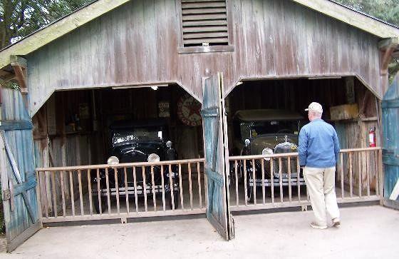 """""""Antique Car"""" exhibit (model A Fords)"""