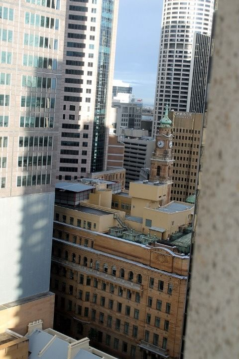 View from the window of our hotel room