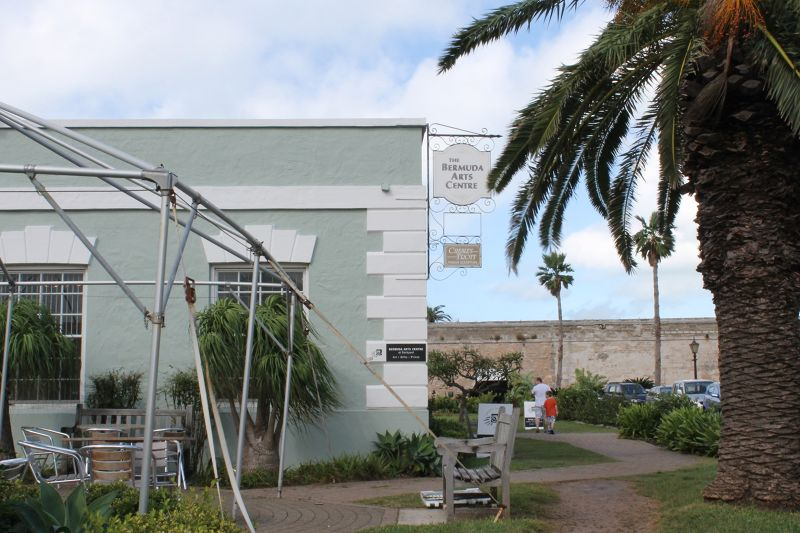 Bermuda Arts Center sign - side of the Cooperage - Bermuda