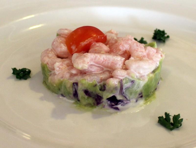 Avocado and Bay Shrimp with lemoncello aioli