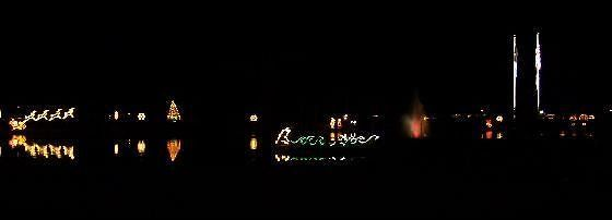 Christmas lights on the lake