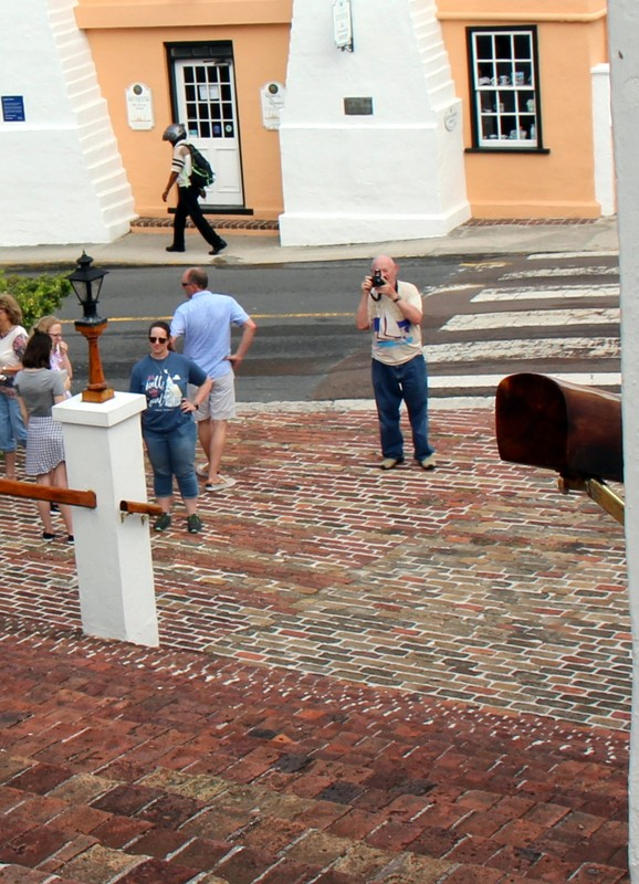Bob taking a photo of St Peters