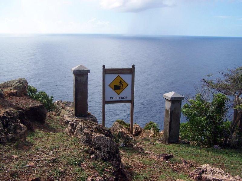 Warning sign at Blockhouse