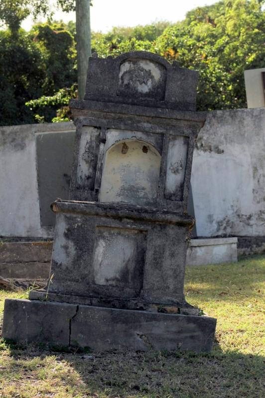 Old Danish cemetery tomb