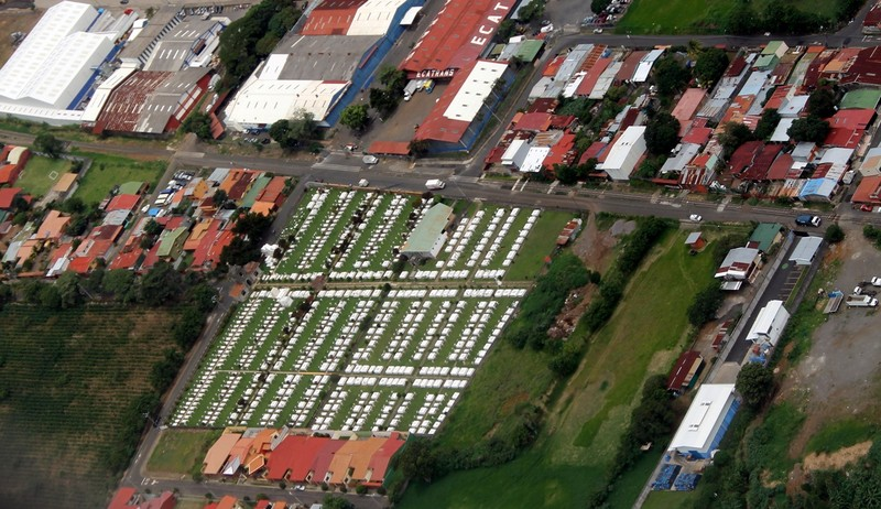 Large cemetery from the air