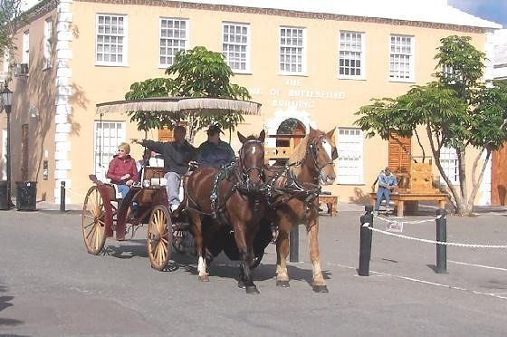 Horse drawn carriage in King's Square
