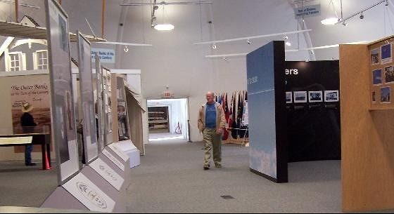 Bob walking through the exhibits