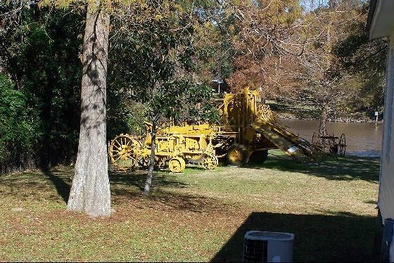 Machinery in the back of the museum grounds